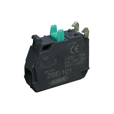 Bloque de contactos pulsador 1 tornillo