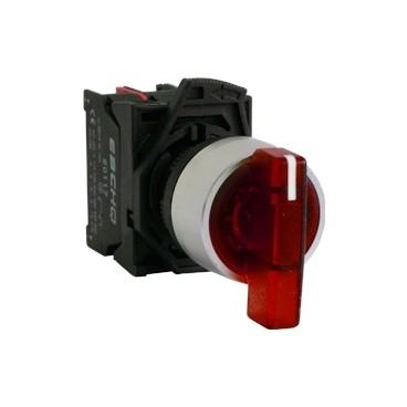 Selectores de muletilla iluminadas base plástica Ø22mm - EBCHQ