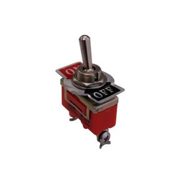 Interruptor de codillo metálico 1 y 2 polos 15A/250V