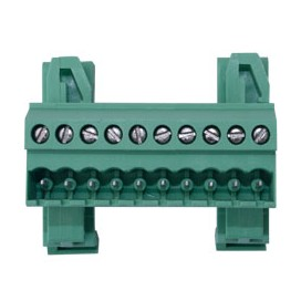 Bornera enchufable riel DIN UL 24 - 12AWG - 10 pares