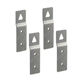 Set de soportes para fijacion de superficie para cofres de termoendurecido
