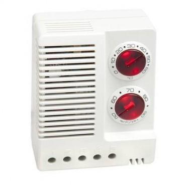 Termohigrostato electrónico 0 a 60°C y 50 a 90% HR IP20