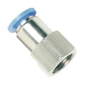 Conector hembra recto metálico Rosca M5 (serie métrica)