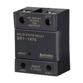 Relé de estado sólido SSR unipolar -Indicador LED - UL 25-75A