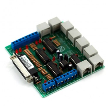 C35 Configuración rápida Breakout Board, 4 ejes