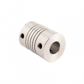 Acople flexible en aluminio 8 x 8 mm.
